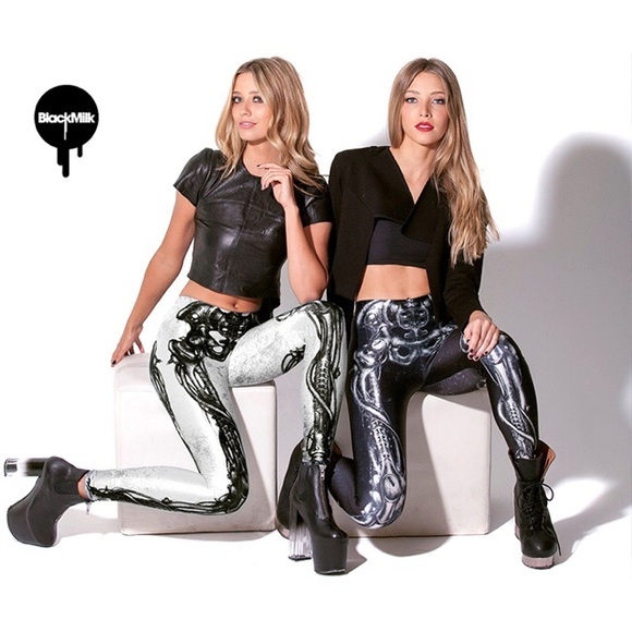 6912f468b33b1 Blackmilk Pants | Black Milk Black Steel Skeleton Legging | Poshmark